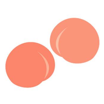 桃 - イラスト素材 | 商用利用可のベクターイラスト素材集「ピクト缶」