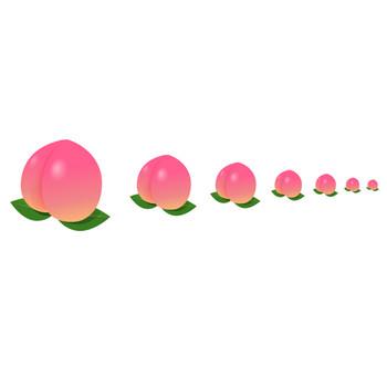 フルーツ-桃 - アイコン素材