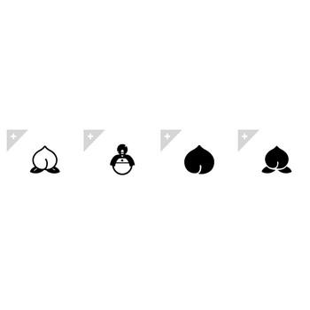 桃 | アイコン素材ダウンロードサイト「icooon-mono」 | 商用利用可能なアイコン素材が無料(フリー)ダウンロードできるサイト