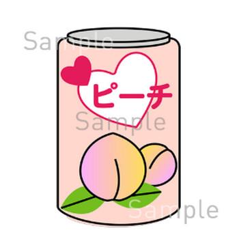 缶ジュース(桃)の無料イラスト素材|登録不要のイラストぱーく