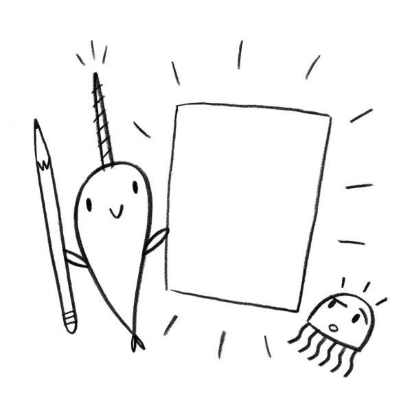 narwhal coloring page # 14