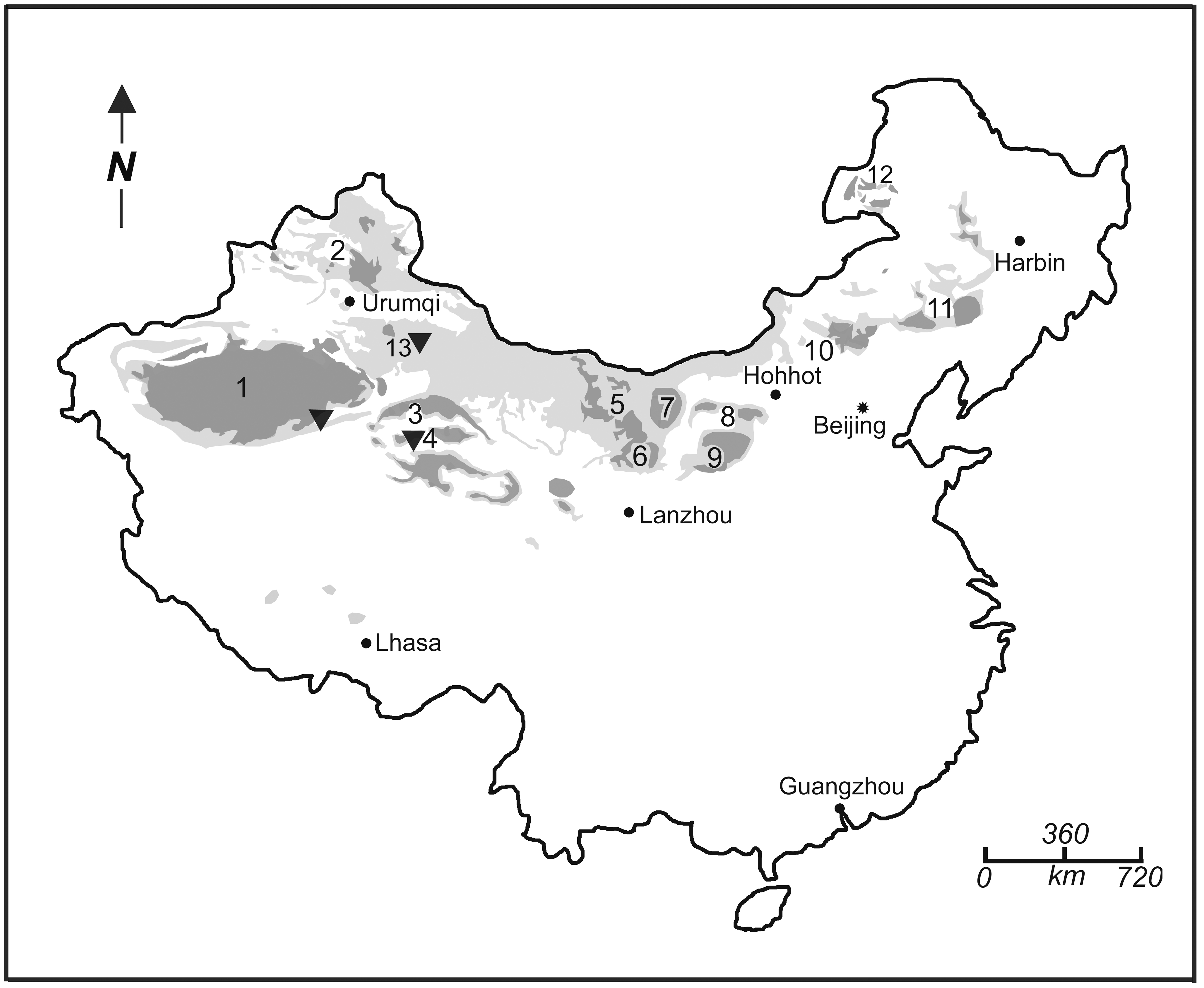 Deserts In China Map
