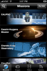 iPhone Missions Screen