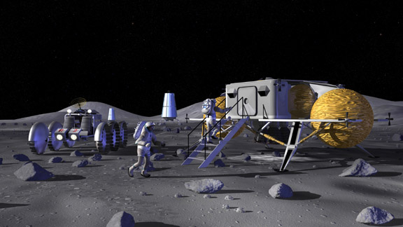 A Base Lunar inicialmente proposta pela NASA em http://www.nasa.gov