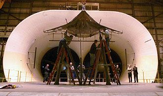 NASA - Media Invited to Blended Wing Body Wind Tunnel Test