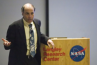 Dr. Robert Zubrin speaking at NASA in 2008.