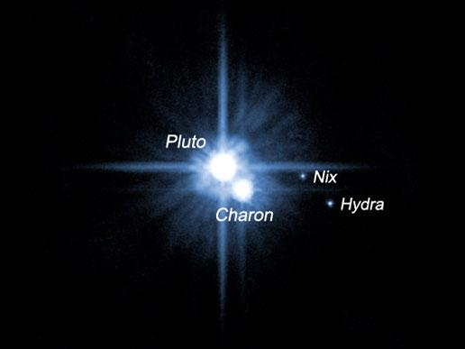 NASA Pluto and Its Moons Charon Nix and Hydra