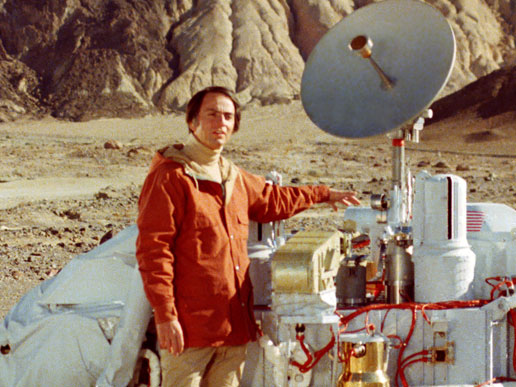 Carl Sagan & Mars Viking Lander, NASA JPL photo