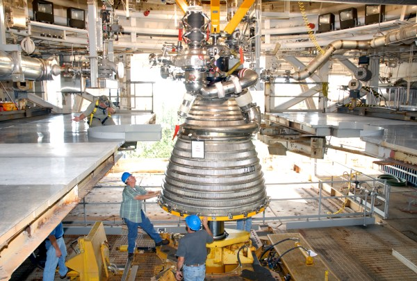 NASA - J-2X Powerpack Test Article Installed on Test Stand