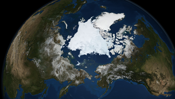 Artist concept of Arctic ice