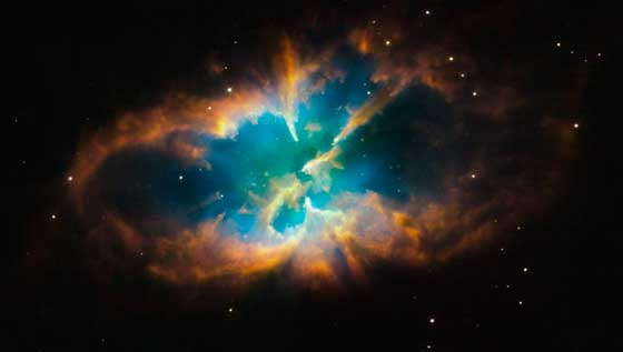 Hubble image of the nebula within the cluster