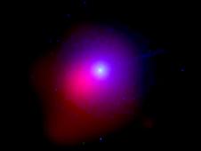 Swift image of comet Lulin taken Jan. 28
