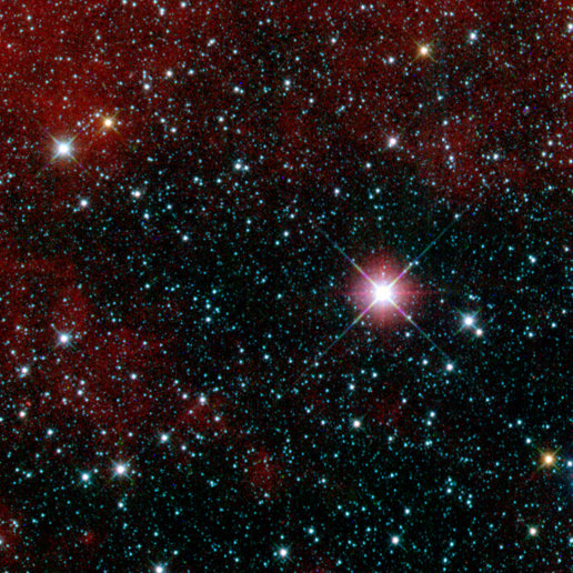 Infrared snapshot of a region in the constellation Carina near the Milky Way taken shortly after NASA's Wide-field Infrared Survey Explorer (WISE) ejected its cover.