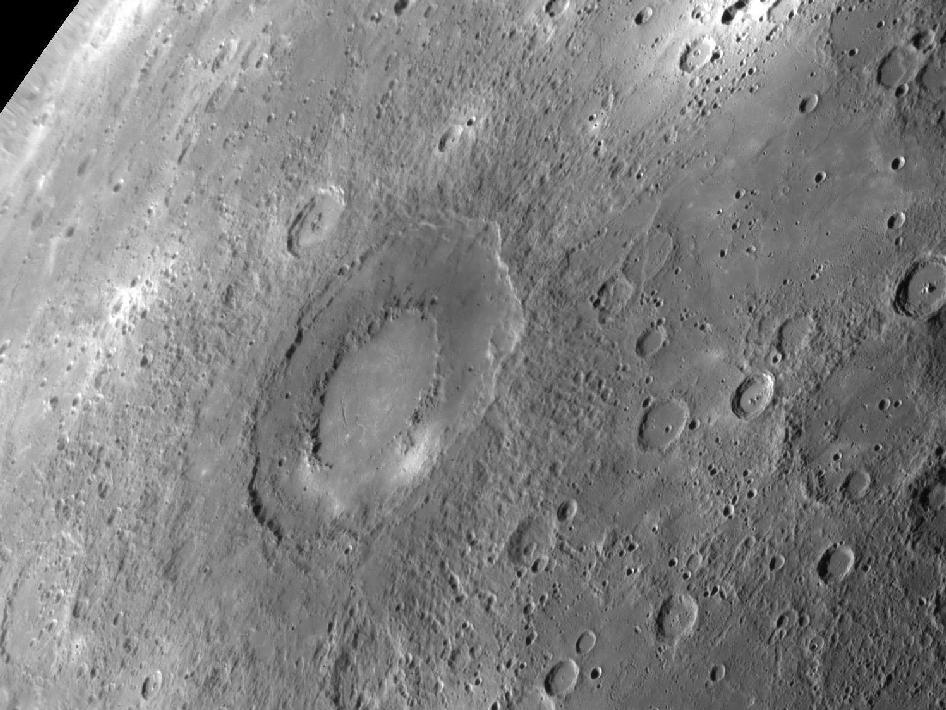Rachmaninoff Crater on Mercury, NASA photo
