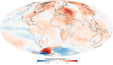 map shows temperature anomalies relative to 1951-1980 for the summer of 2010