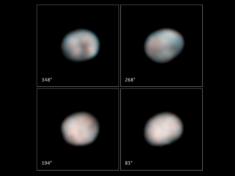 NASA's Hubble Space Telescope snapped these images of the asteroid Vesta