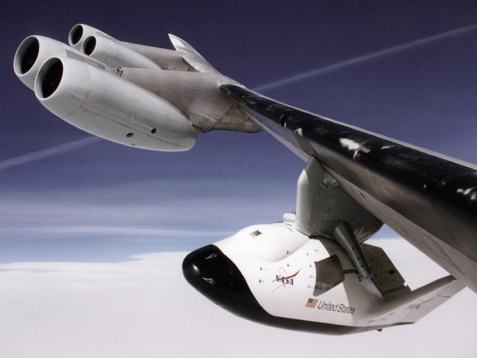 Close-up view of the X-38