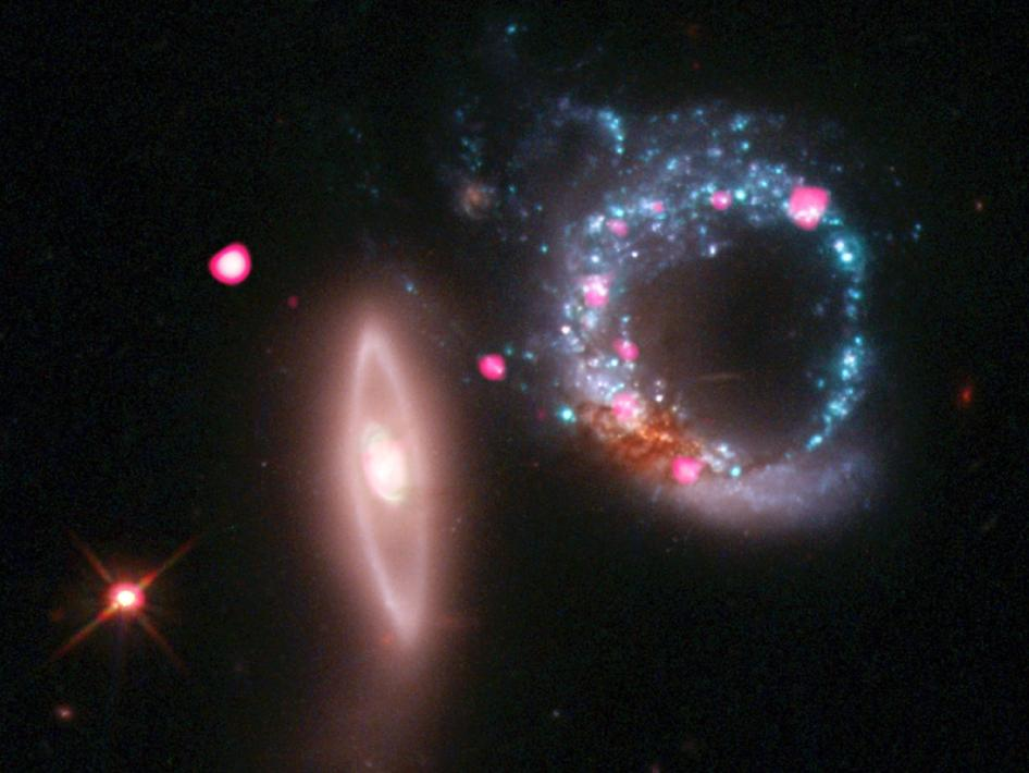 Arp 147, a pair of interacting galaxies