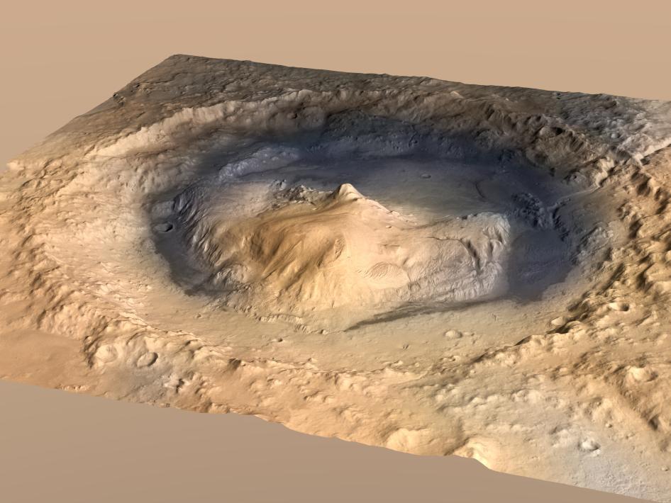 Crater Gale en Marte