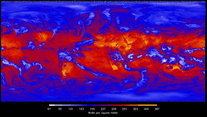 CERES longwave data visualization