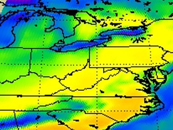 HD Decor Images » NASA   NASA Studies March 3 Severe Weather Outbreak With Infrared     Map of Aqua satellite weather data