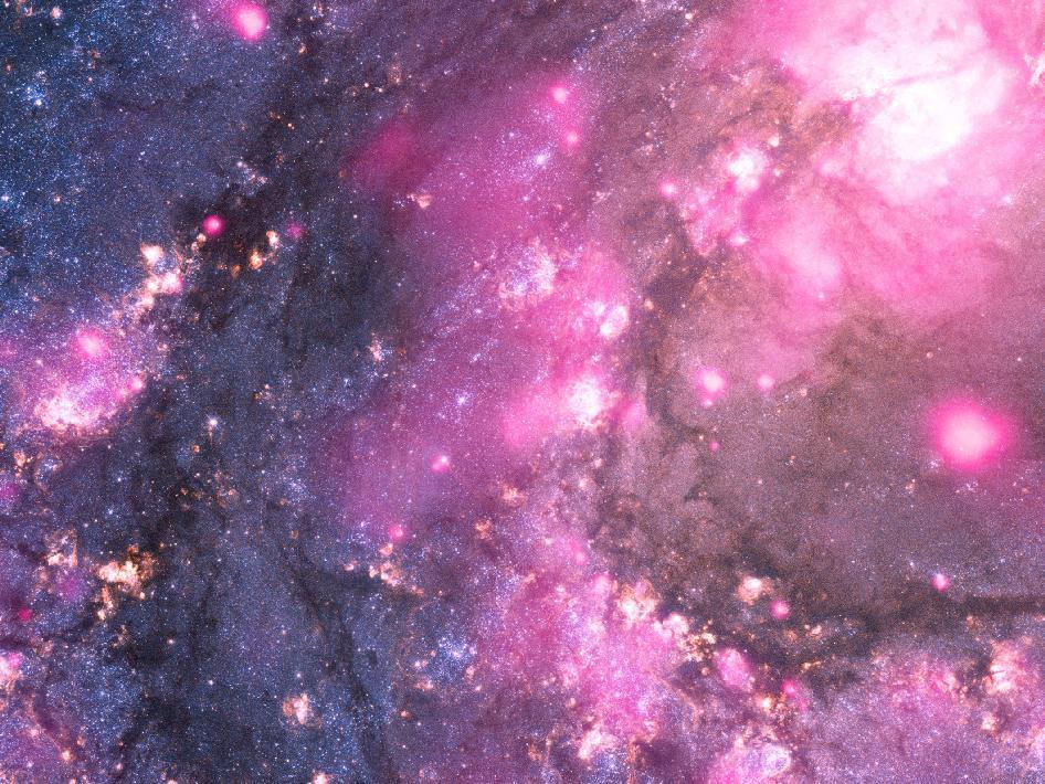 Imagen compuesta de la galaxia espiral M83