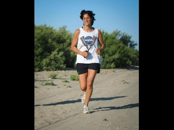 NASA - Astronaut Suni Williams Takes a Jog