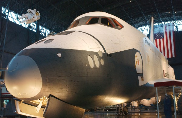 NASA - Shuttle Enterprise at Center of Museum's Space Hangar