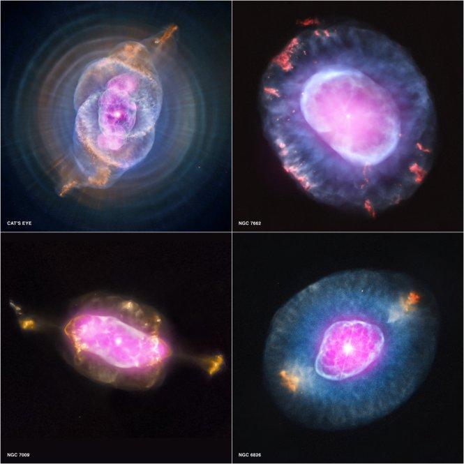 Cuatro nebulosas planetarias desde el primer estudio sistemático de tales objetos en la vecindad solar hecho con el Observatorio Chandra de Rayos X,