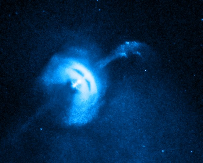 The Vela pulsar, a neutron star that was formed when a massive star collapsed.