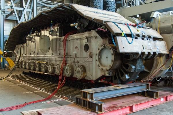 NASA CrawlerTransporter Receives New Roller Bearing