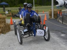 A team from Middle Tennessee State University of Murfreesboro competes in the 2013 NASA Great Moonbuggy Race.