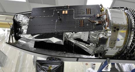 The IRIS spacecraft on Pegasus rocket.