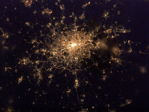 London from orbit