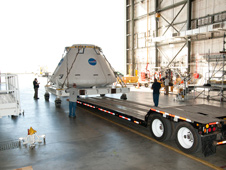 NASA's Orion/MPCV Capsule Departs Dryden for KSC | NASA