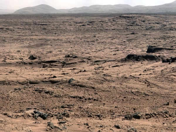 Panoramic View From 'Rocknest' Position of Curiosity Mars ...
