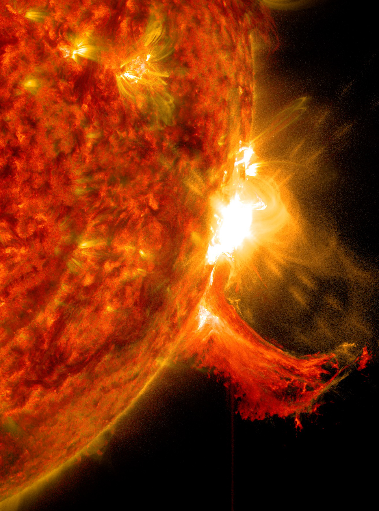 Nasa Releases Images Of A Mid Level Solar Flare