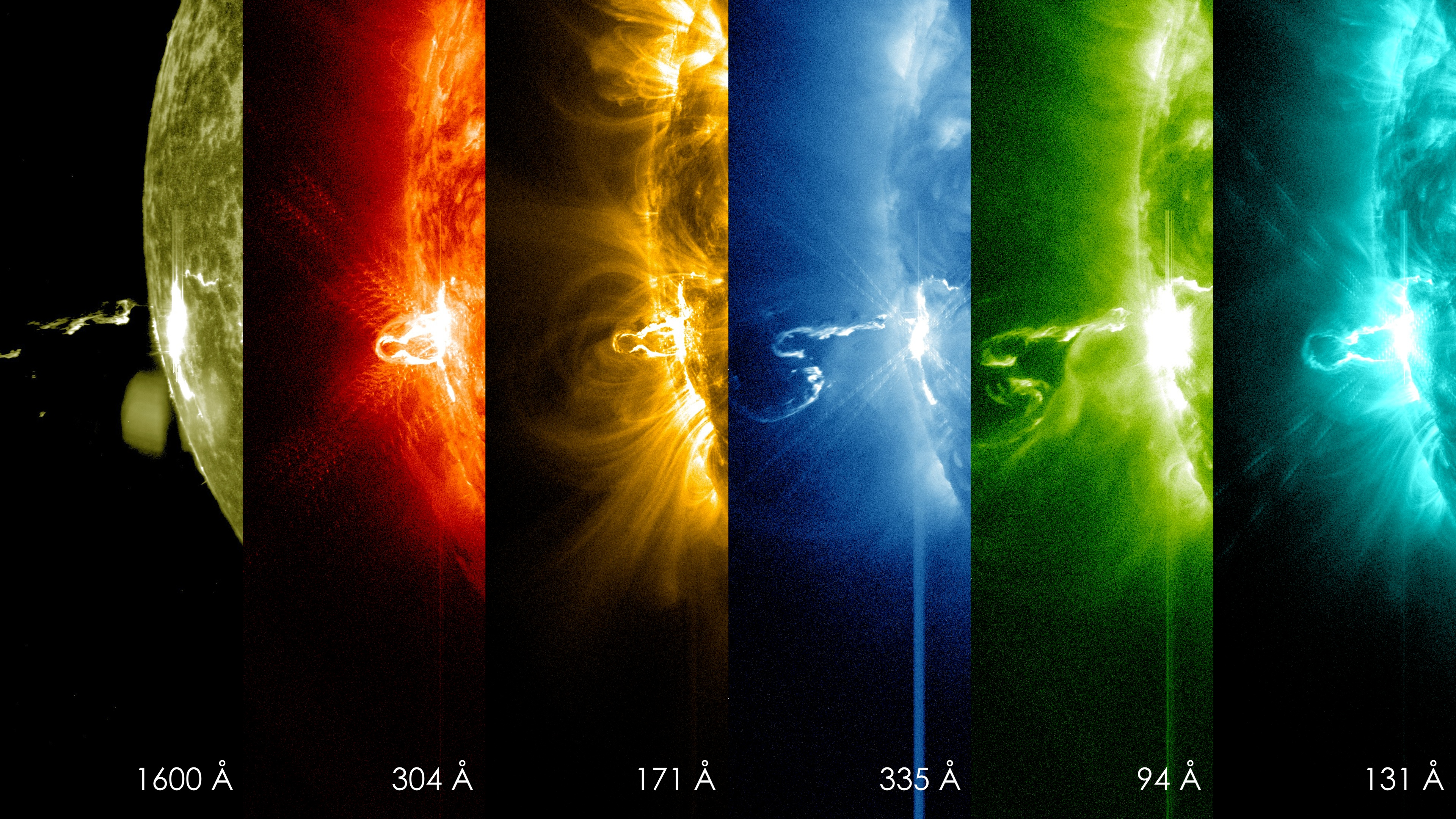 First Moments Of A Solar Flare In Different Wavelengths Of