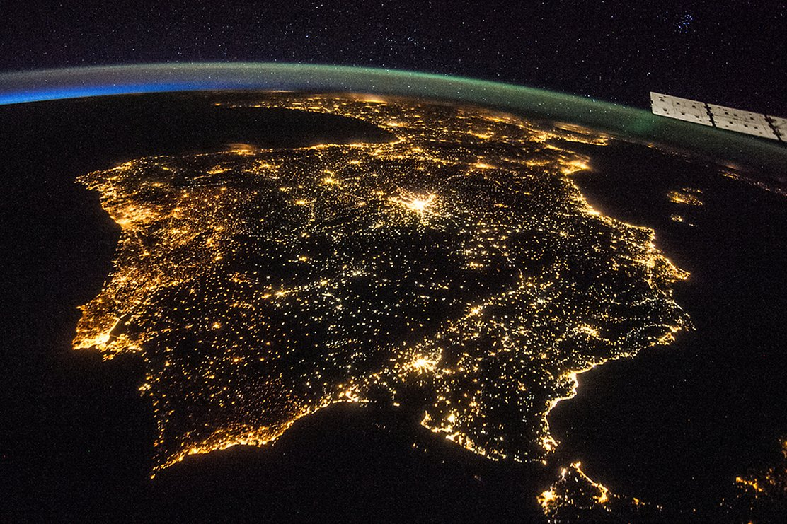 Image of Iberian Peninsula from space