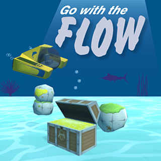 "Title screen from ""Go With the Flow"" game"