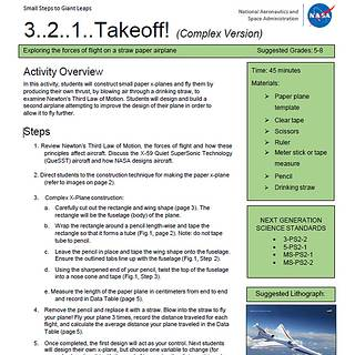 First page of 3..2..1..Takeoff! activity