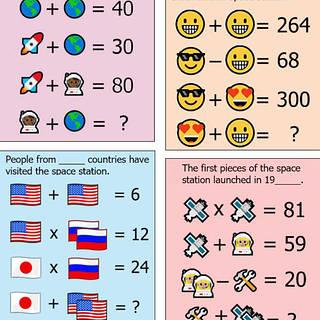 Emoji math puzzle