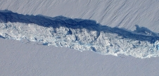 View of the Pine Island Glacier rift seen from the Digital Mapping System camera aboard NASA's DC-8 on Oct. 26, 2011.