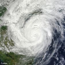 MODIS image of Super typhoon Haiyan