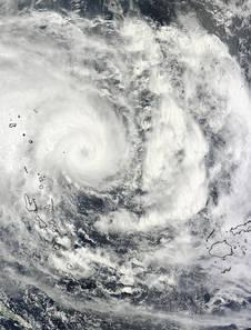 MODIS image of Pam