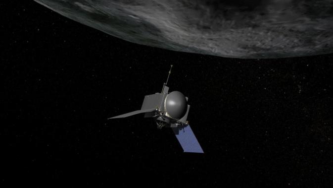 Artist's concept of NASA's OSIRIS-REx spaecraft