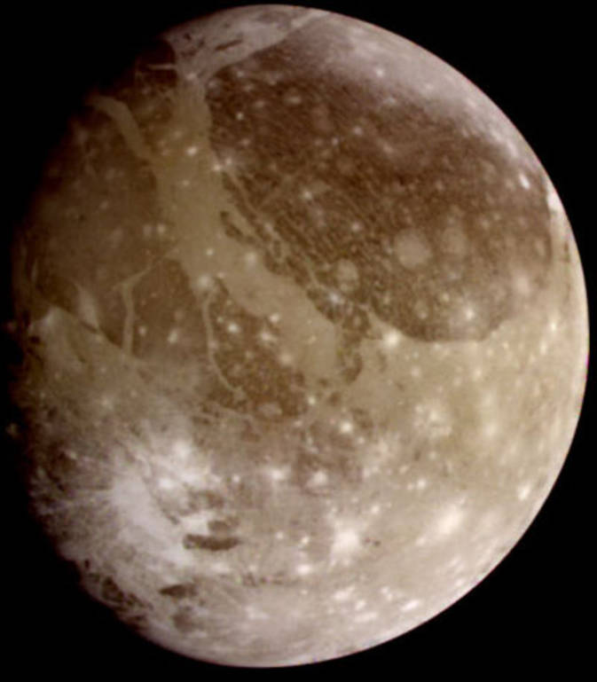 Image of Jupiter's moon, Ganymede