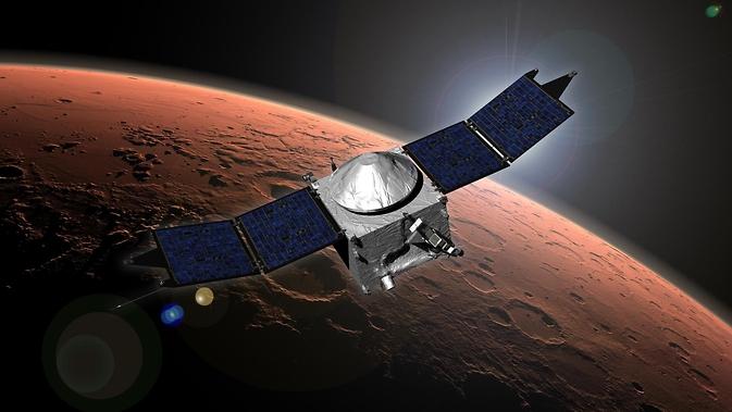 Marte Atmosfera NASA și volatile Evolution (MAVEN) conceptul nave spațiale artist.