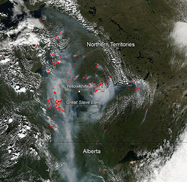 Fires And Smoke In Canadas Northern Territories NASA
