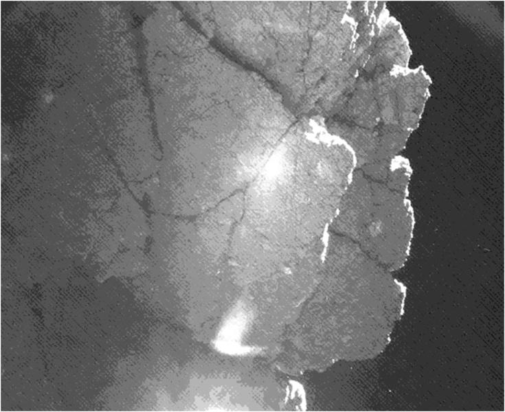 Philae Lander's View of 'Perihelion Cliff' on Comet ...